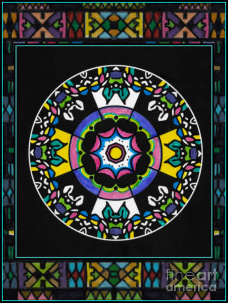 Mixed Media - A Mandala For Spring by Wbk