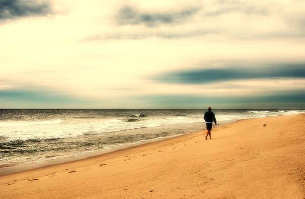 Photograph - A Man's Serenity - Jersey Shore by Angie Tirado