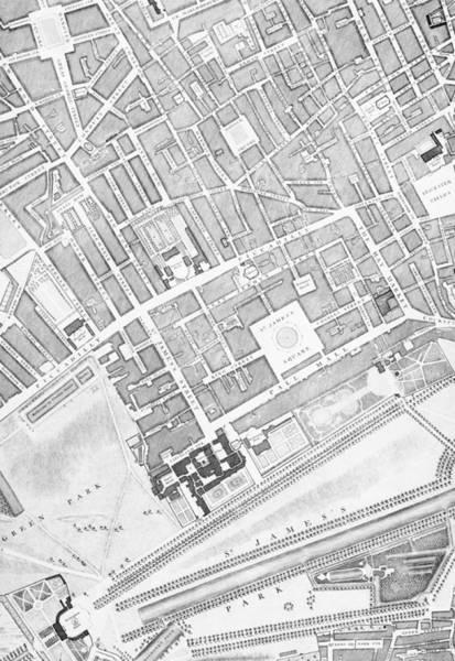 A Map Of St James  London Art Print