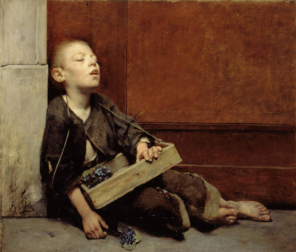Hunger Painting - A Martyr Or The Violette Merchant by Pelez Fernand