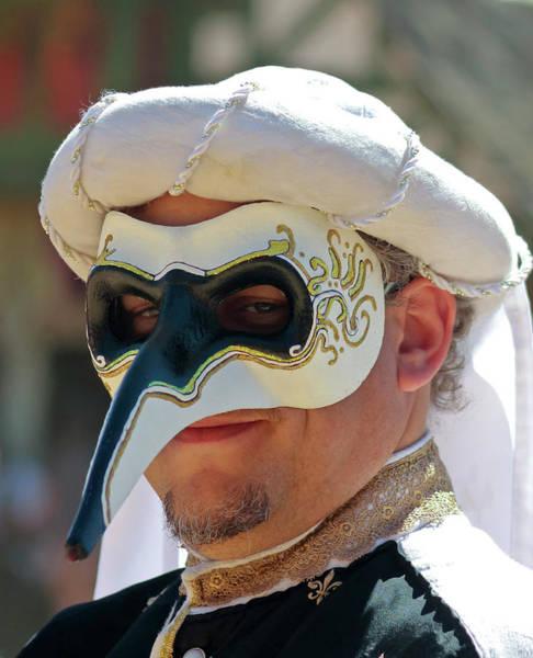 Arizona Renaissance Festival Wall Art - Photograph - A Masked Man At The Arizona Renaissance Festival by Derrick Neill