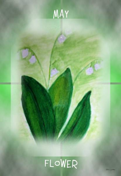 Lilies Of The Valley Mixed Media - A May Flower by Sticky Friends