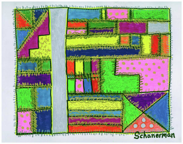 Painting - A-maze-ing Colors by Susan Schanerman