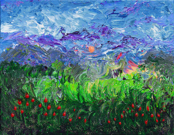 Wall Art - Painting - A Meadow For Van Gogh by Donna Blackhall