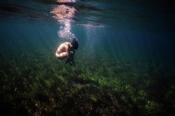 A Mermaid In A Sea Of Coral Art Print