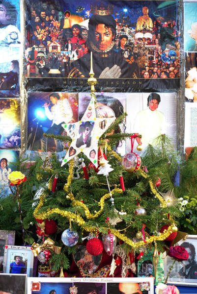 Photograph - A Merry Michael Jackson Christmas Munich by John Rizzuto
