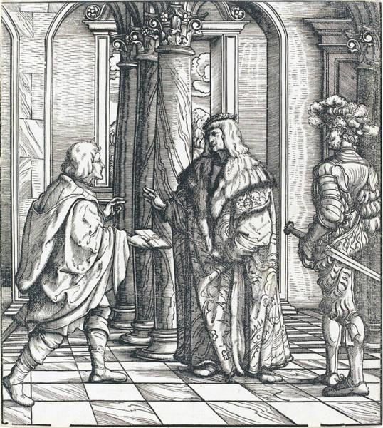 Drawing - A Message Concerning The White King's Marriage by Hans Burgkmair I