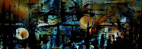 Michael Ferguson Wall Art - Painting - A Midnight Stroll by Michael Ferguson