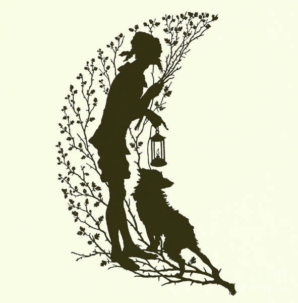 Wall Art - Drawing - A Midsummer Night's Dream, Silhouette  by Paul Konewka