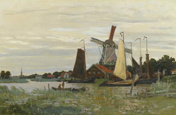 Painting - A Mill In Zaandam by Claude Monet