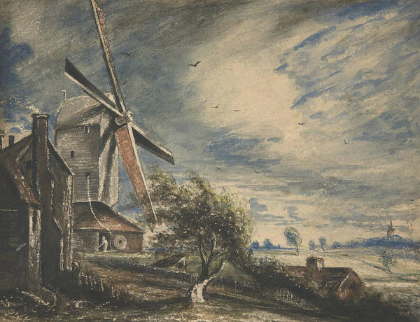 Painting - A Mill Near Colchester by John Constable