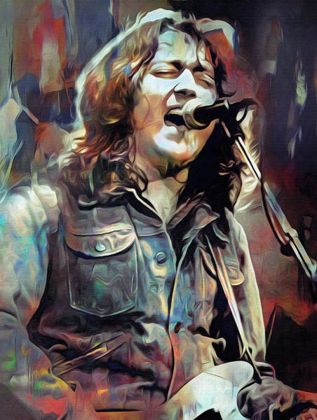 Wall Art - Mixed Media - A Million Miles Away, Rory Gallagher by Mal Bray