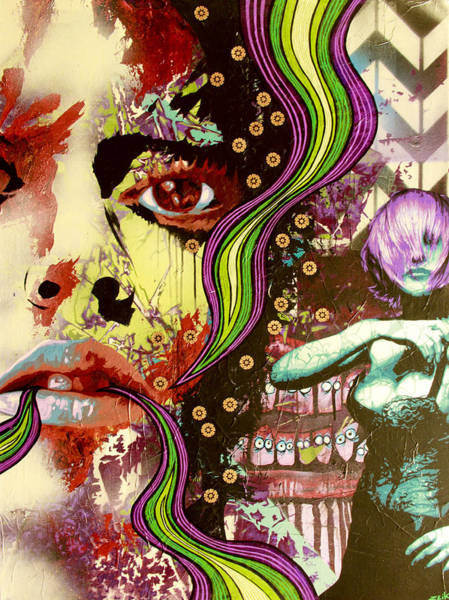 David Choe Wall Art - Painting - A Mind Is A Terrible Thing To Taste by Bobby Zeik