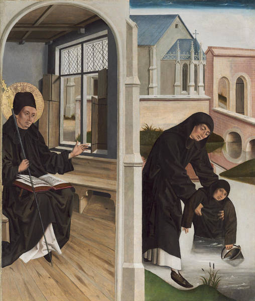 Wall Art - Painting - A Miracle Of Saint Benedict by French 15th Century