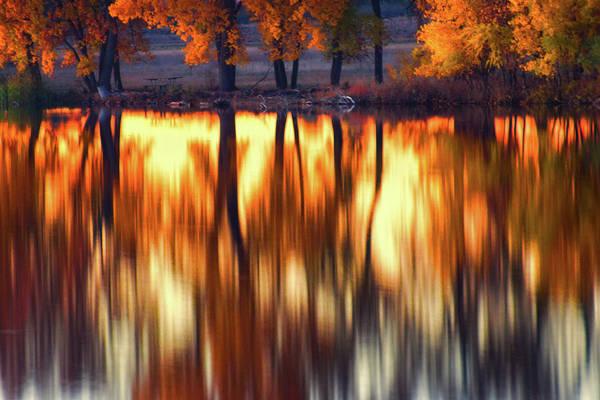 Photograph - A Mirror Of Fall by John De Bord