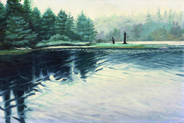 Wall Art - Painting - A Misty Morning At Pauls Tree by Phil Chadwick