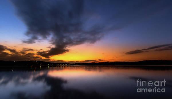 Photograph - A Misty Sunset On Lake Lanier by Bernd Laeschke