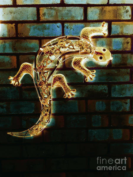 Wall Art - Photograph - A Model Lizard by Tom Gowanlock
