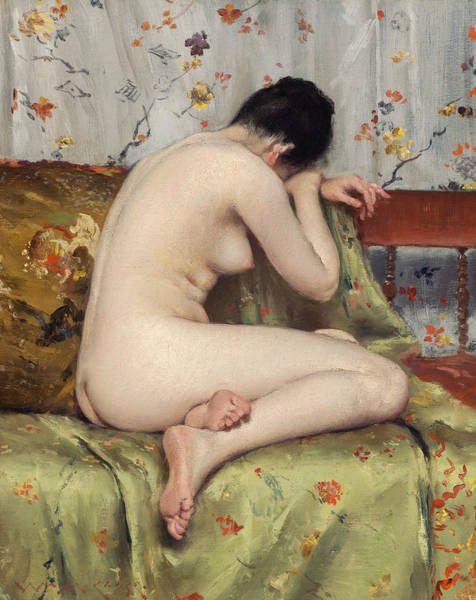 Painting - A Modern Magdalen by William Merritt Chase