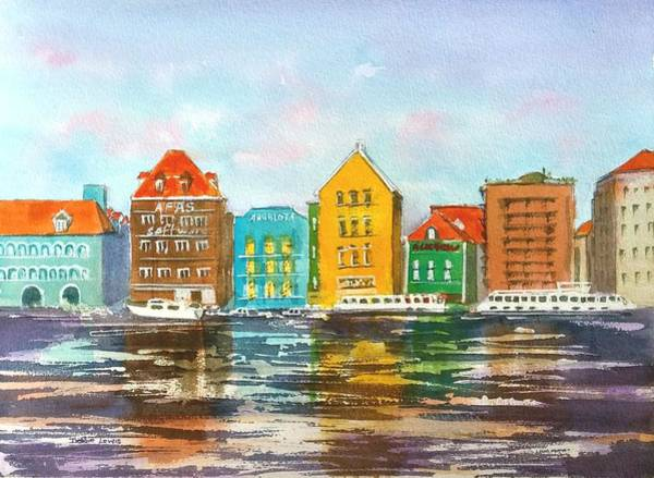 Painting - A Modern Take On Curacao by Debbie Lewis