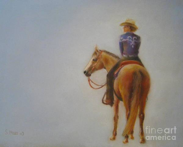Horsemanship Painting - A Moment In Time by Sabina Haas