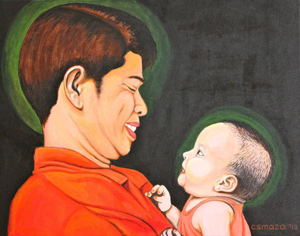 Painting - A Moment With Dad by Cyril Maza