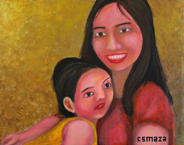 Painting - A Moment With Mom by Cyril Maza