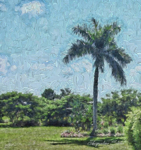 Digital Art - A Monet Palm by Jacqueline Sleter