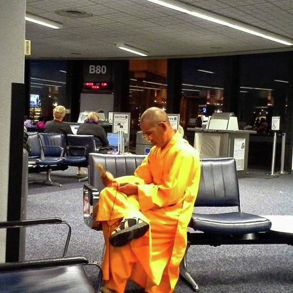Photograph - A Monk Using His Cellphone At The by Cheray Dillon
