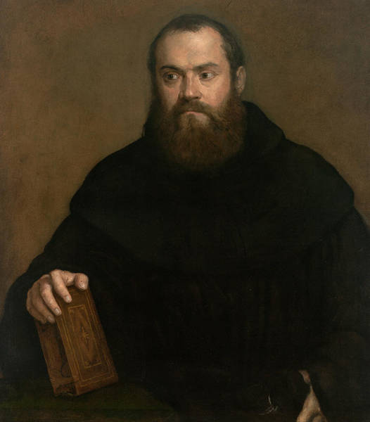 Monk Painting - A Monk With A Book by Titian