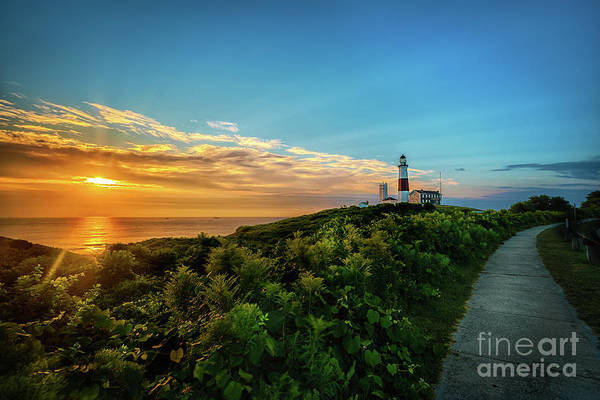 Photograph - A Montauk Lighthouse Sunrise by Alissa Beth Photography