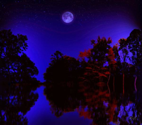 Painting - A Moonlit Night by Mark Taylor