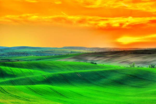 Wall Art - Photograph -  A Moravian Sunset by Midori Chan