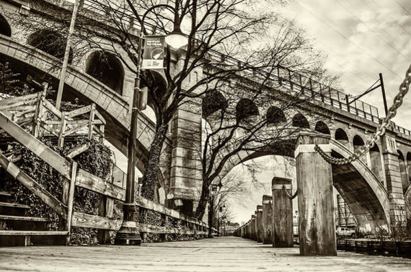 Wall Art - Photograph - A Morning Along The Manayunk Canal In Sepia by Bill Cannon