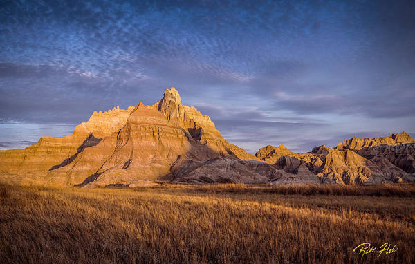 Photograph - A Morning Badlands Peak by Rikk Flohr