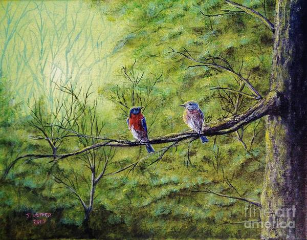 Mate For Life Painting - A Morning For Mates by Jack Lepper