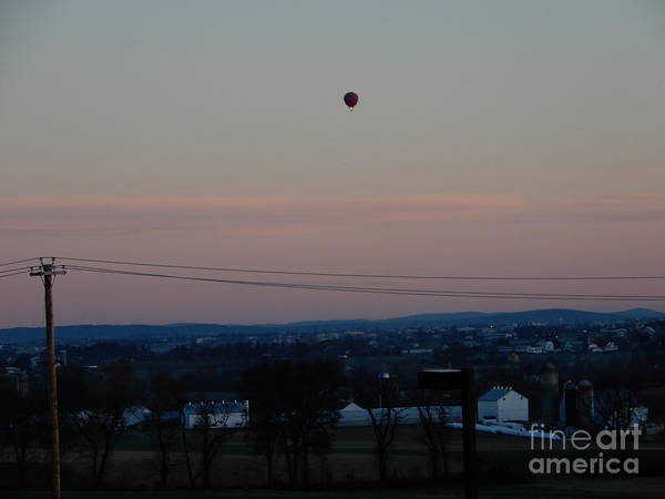 A Morning Hot Air Balloon Ride Art Print
