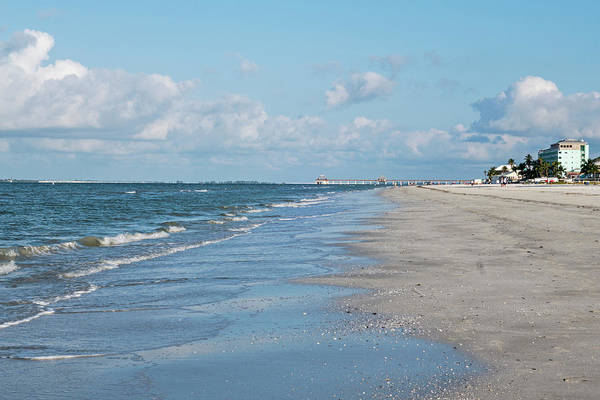 A Morning Walk On Fort Myers Beach Fort Myers Florida Art Print