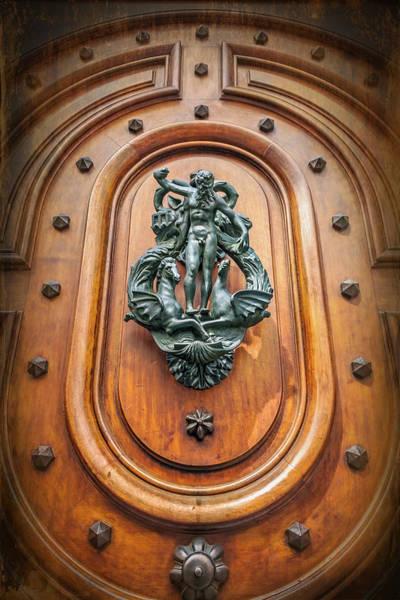 Old Door Photograph - A Most Unusual Door Knocker In Geneva Old Town  by Carol Japp