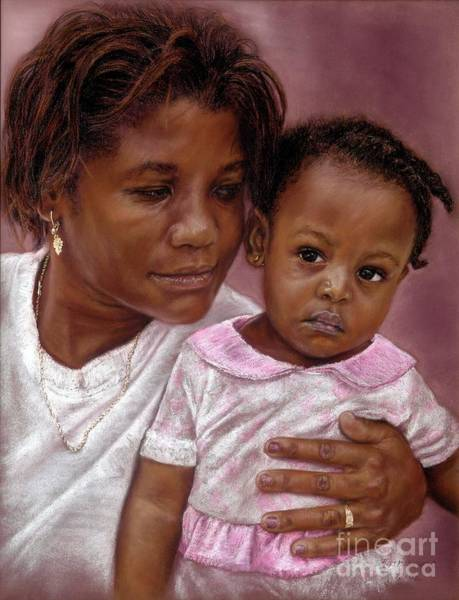 Pastel - A Mother's Love by Roshanne Minnis-Eyma