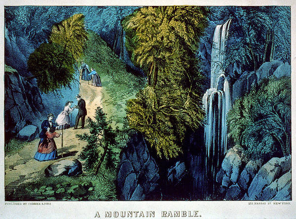 Painting - A Mountain Ramble by Currier and Ives - Joy of Life Art