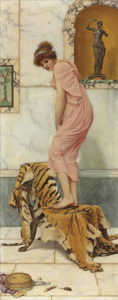 Wall Art - Painting - A Mouse In The Work Basket by John William Godward