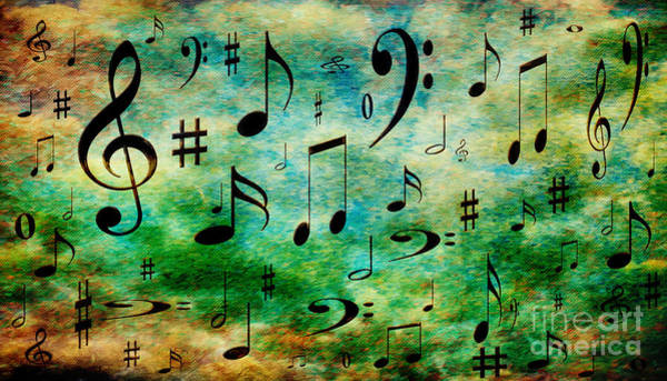 Digital Art - A Musical Storm 2 by Andee Design