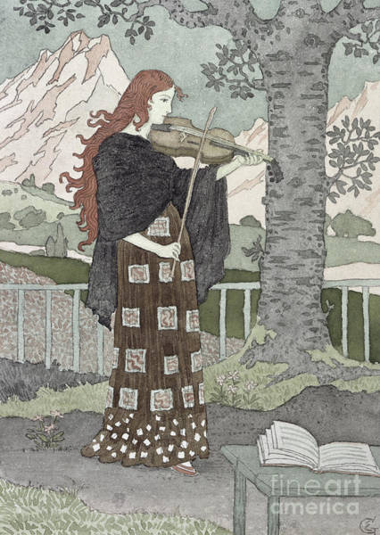 Violin Wall Art - Painting - A Musician by Eugene Grasset