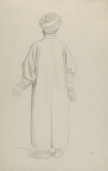 Jeans Drawing - A Muslim Preparing For Prayer by Jean-Leon Gerome