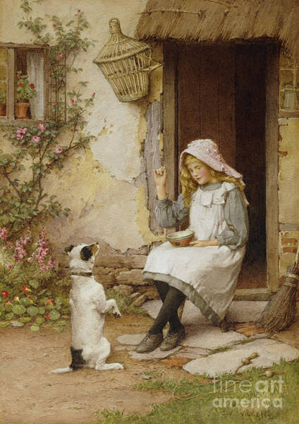Wall Art - Painting - A Mute Appeal by Charles Edward Wilson