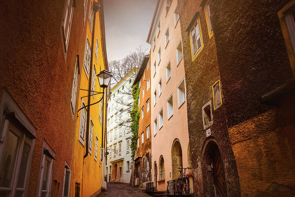 Wall Art - Photograph - A Narrow Street In Salzburg  by Carol Japp