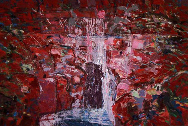 Wall Art - Painting - A Natural Spring In Lipovo  by Vladimir Vlahovic
