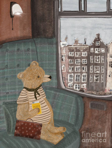 Teddy Bear Painting - A New Adventure For Bear  by Bri Buckley