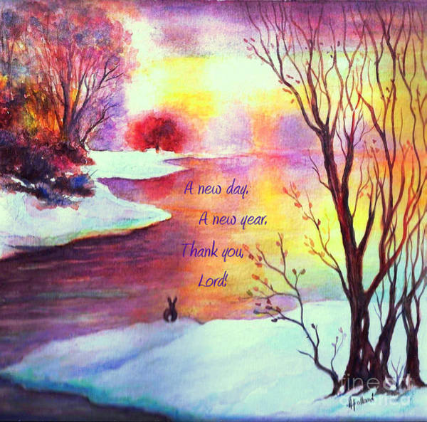 Wall Art - Painting - A New Day And A New Year by Hazel Holland